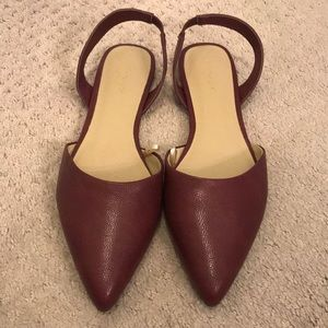 New Ann Taylor Red Slingbacks Size 9